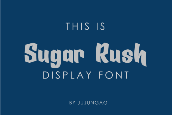 Sugar Rush is a blocky and bold display font that's full of personality.