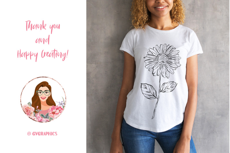 T shirt Made On The Hand Drawn Vector Flowers.