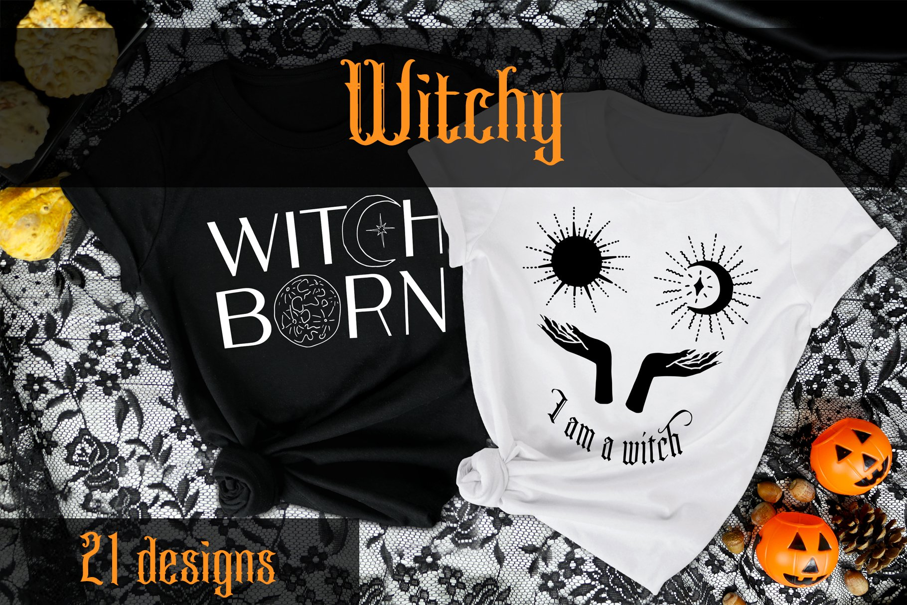 Witchy and Celestial Prints Vector Illusrtation.