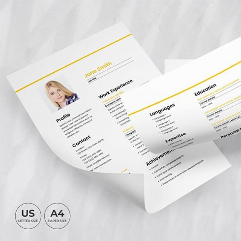 Aviation Airlines Resume Template CV cover image.