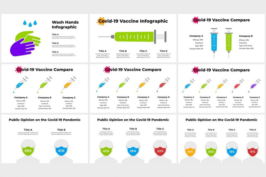 Covid-19 Vaccination Infographics Icons.