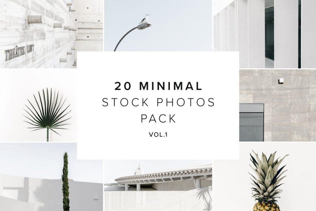 Bonus 20 Minimal Stock Photos vol. 1.