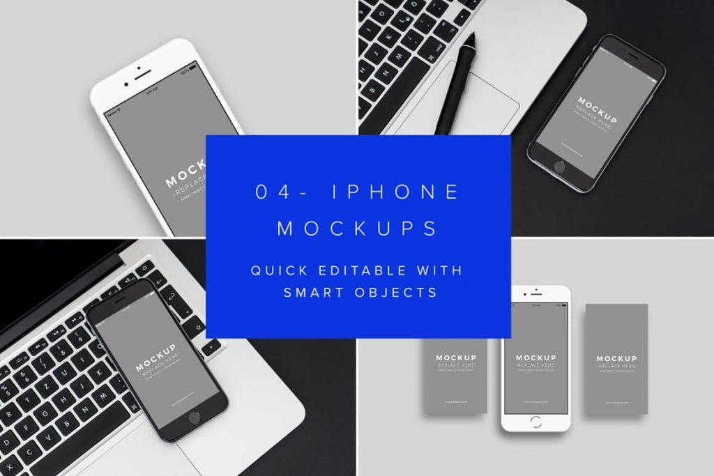 Bonus 4 Mobile Mockups (Photoshop required).