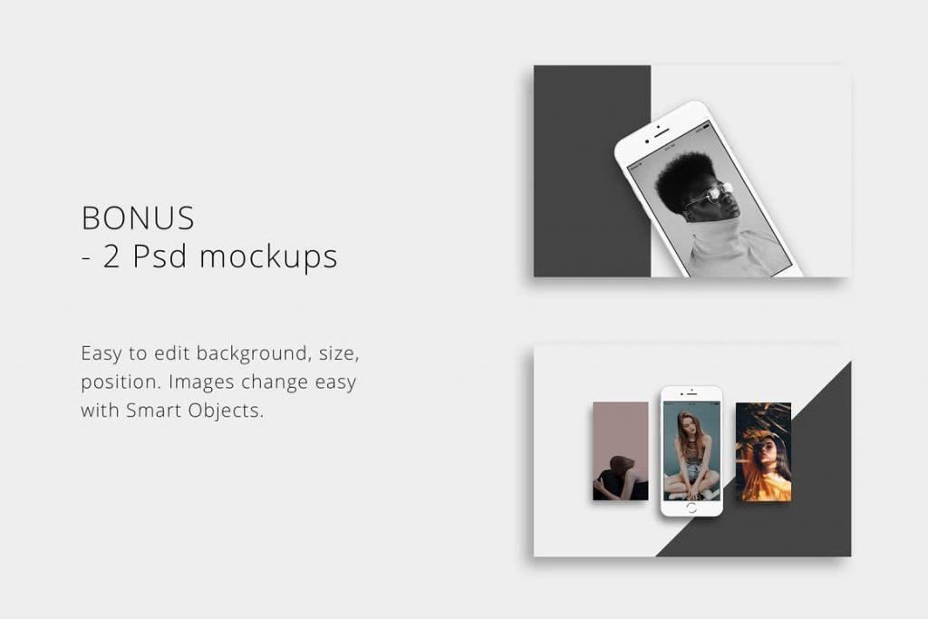 BONUS: 2 Psd BOSH Mockups - Powerpoint Template.