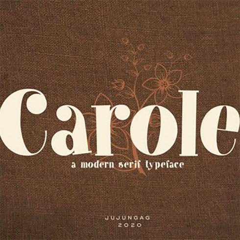 Carole Elegant Serif Font preview image.