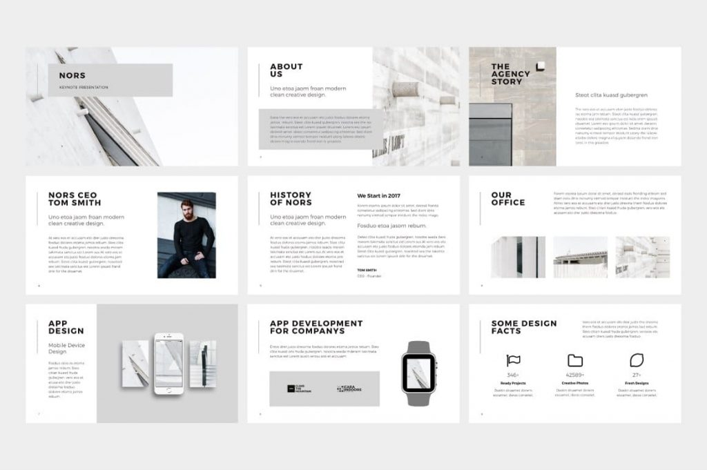 Welcome slides NORS Powerpoint Template.