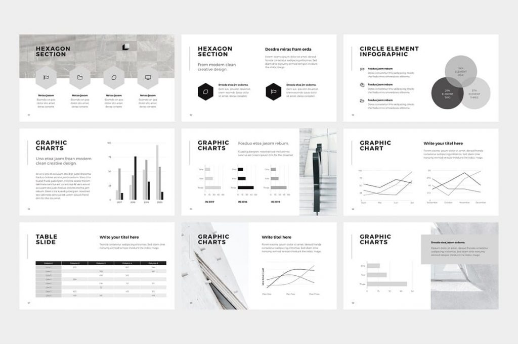 Chart Slides NORS Powerpoint Template.