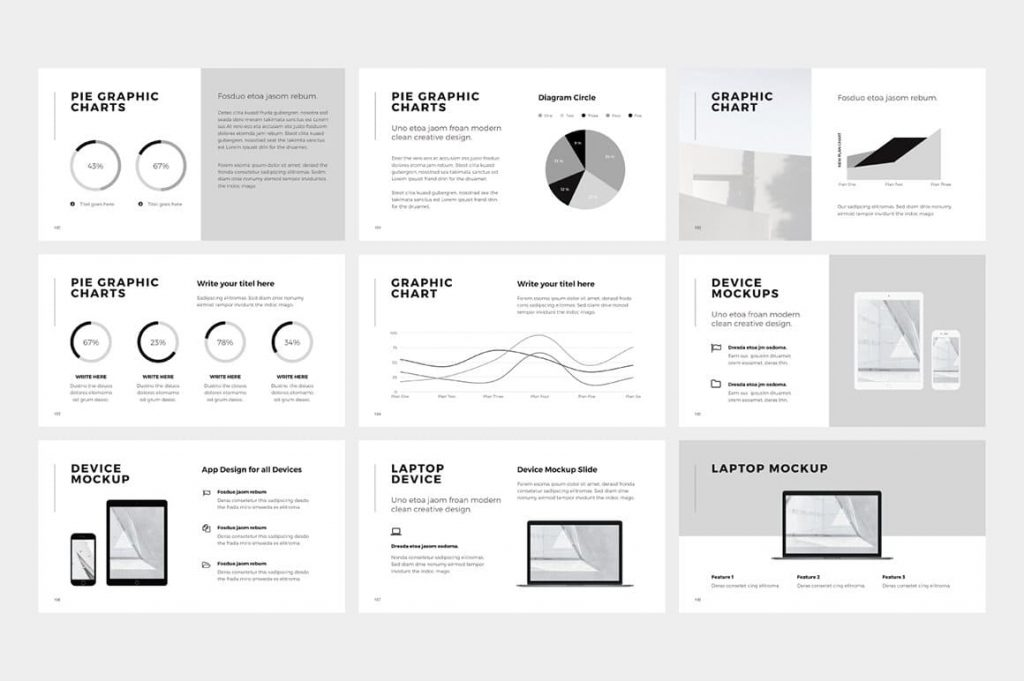 NORS Powerpoint Template Chart Slides.