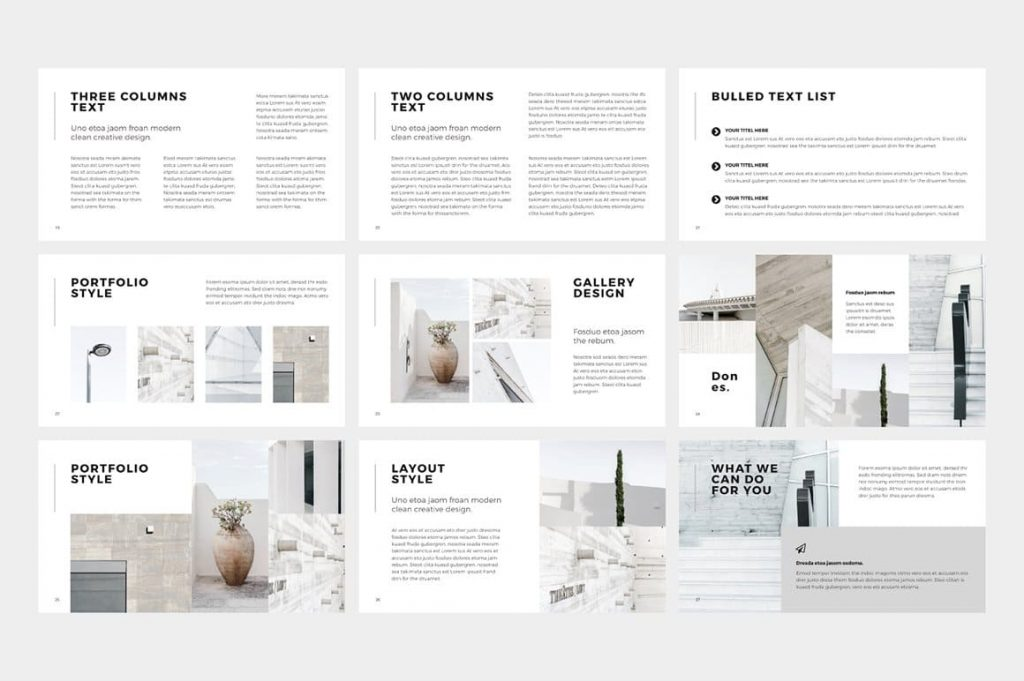 Portfolio Style NORS Powerpoint Template.