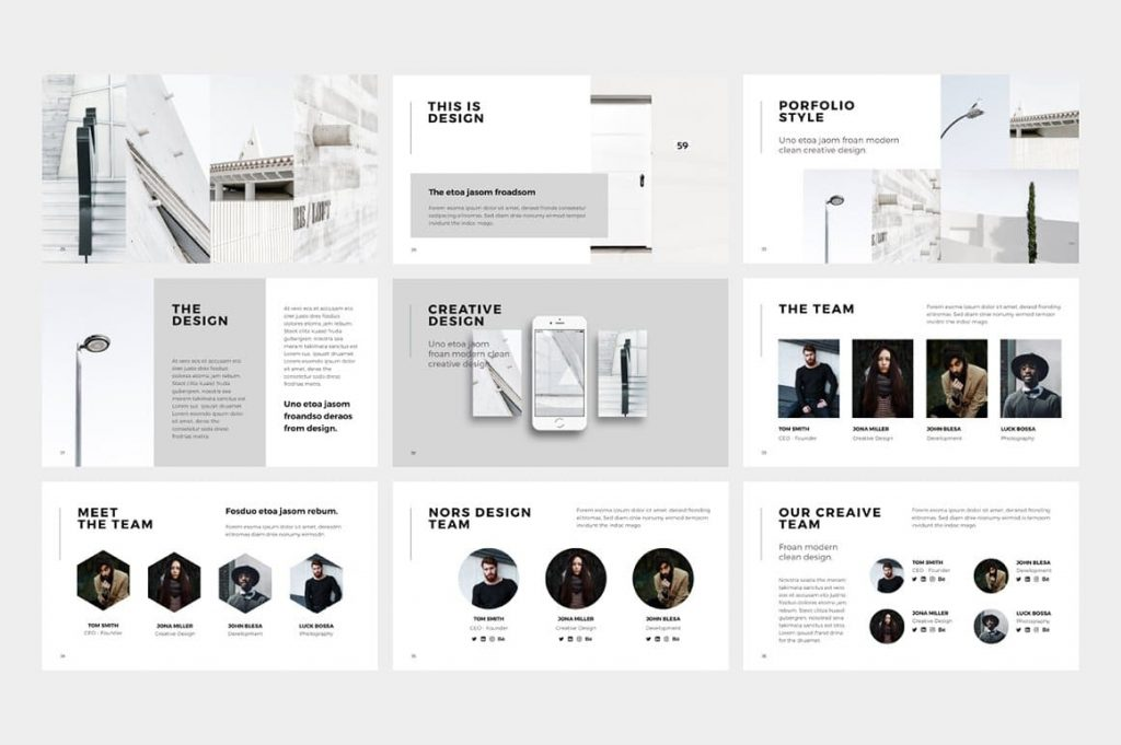 Creative Design NORS Powerpoint Template.