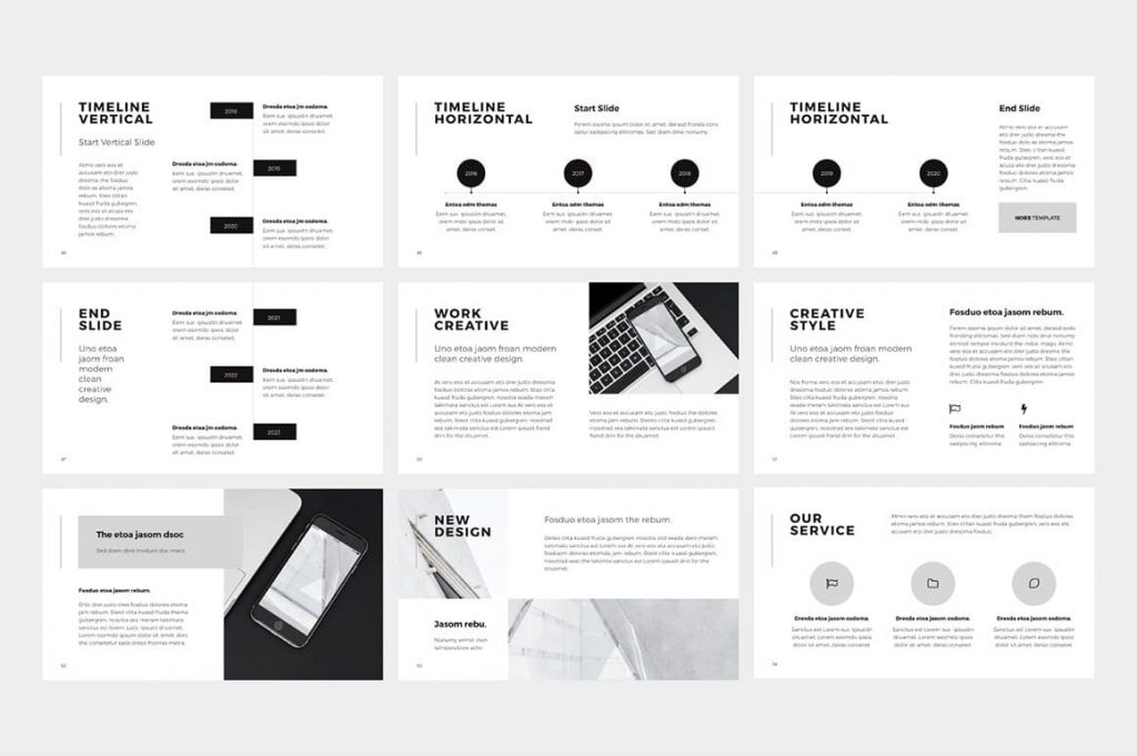 Timeline Slides NORS Powerpoint Template.