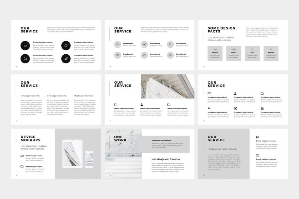 Slides Our Service NORS Powerpoint Template.