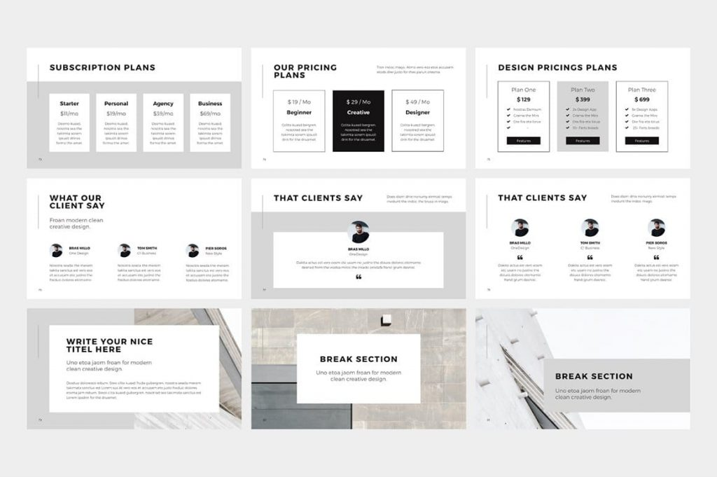 Feedback Slides NORS Powerpoint Template.