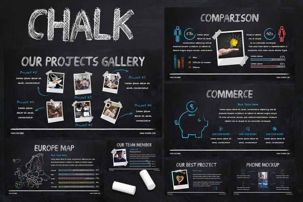 Cover Chalk - Powerpoint Template.