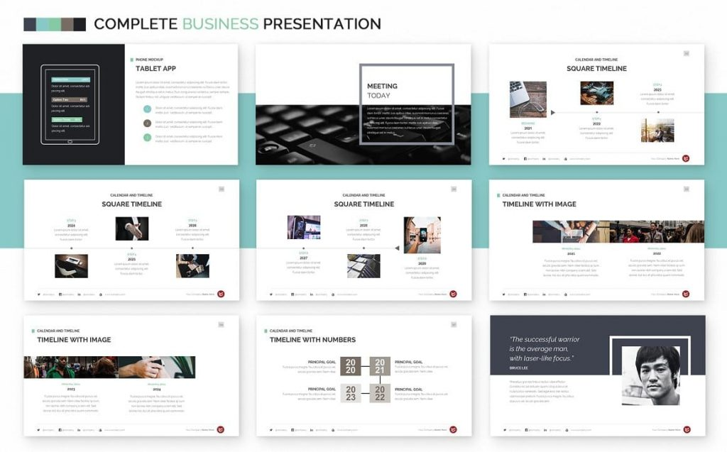 Timelines Slides Complete Business Powerpoint Template.
