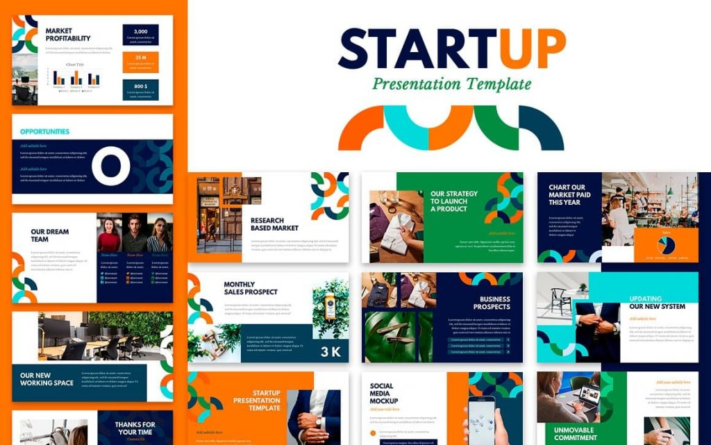 Cover for Startup Powerpoint Presentation Template.