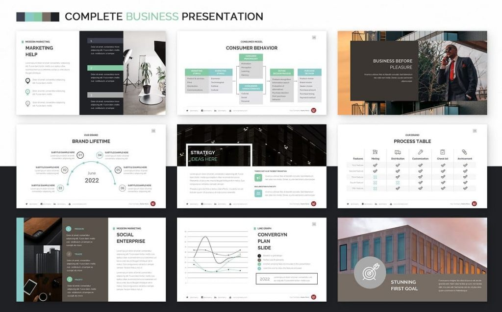 Slides Our Brand Complete Business Powerpoint Template.