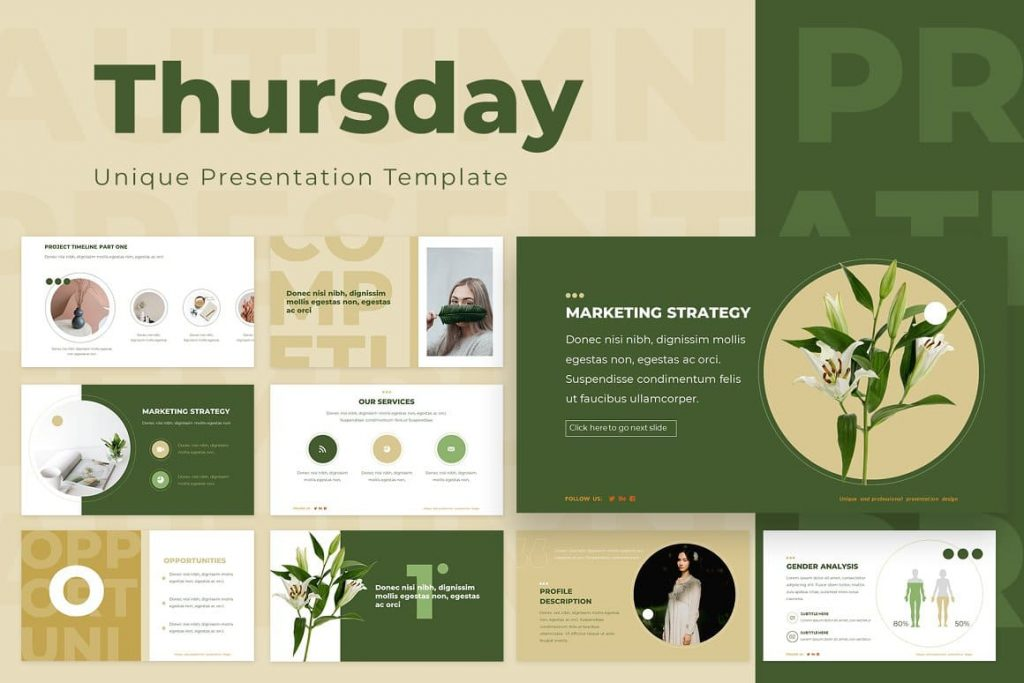 Cover for Thursday Powerpoint Presentation Template.