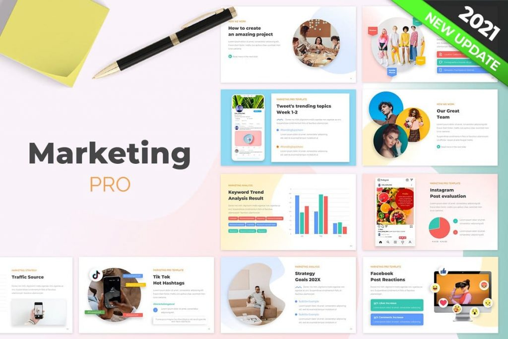 Cover Marketing PRO Powerpoint Template.