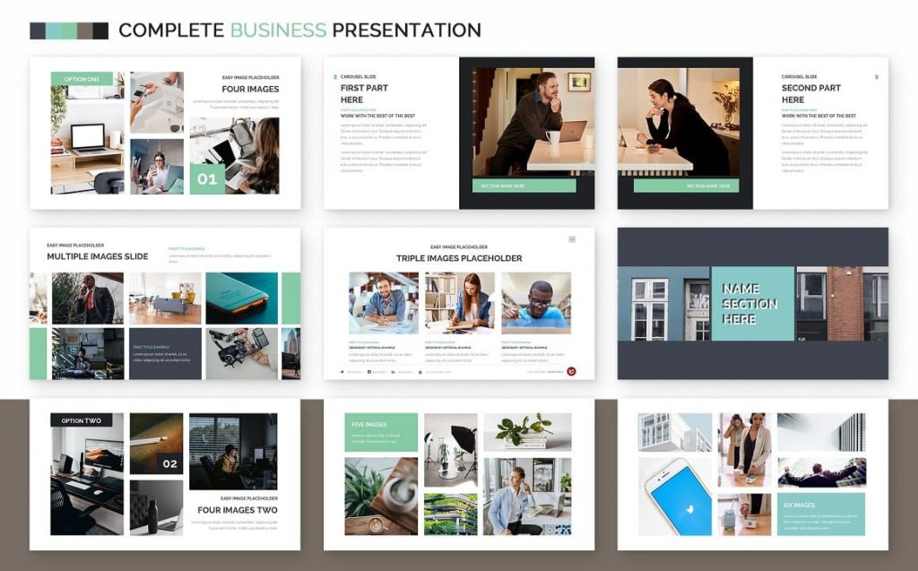 All images are easy to edit Complete Business Powerpoint Template.