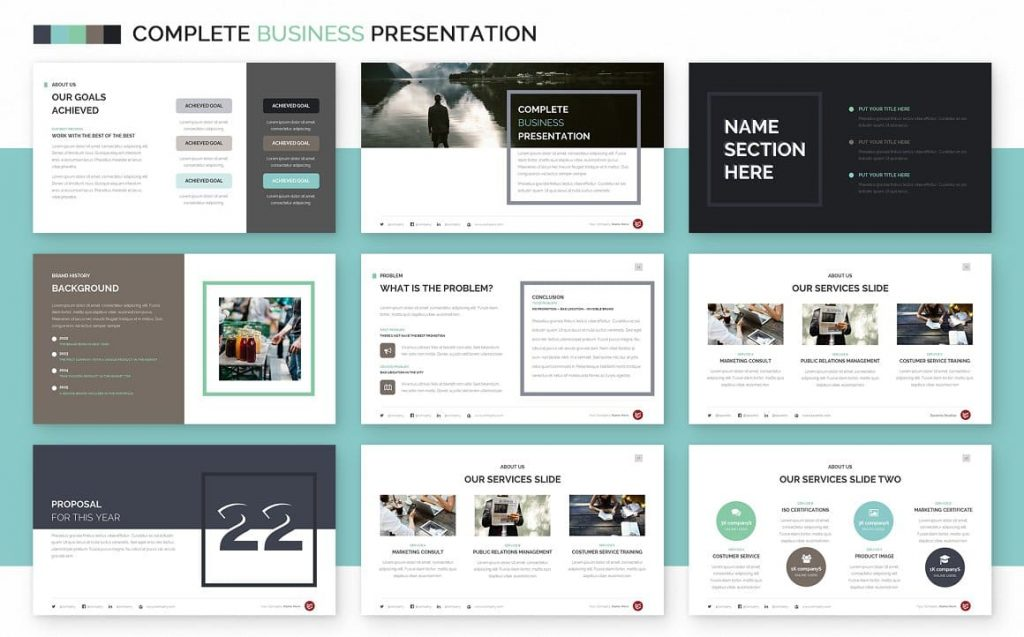 Introductory Slides Complete Business Powerpoint Template.