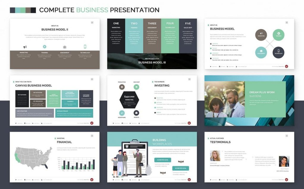 Business Model Slides Complete Business Powerpoint Template.