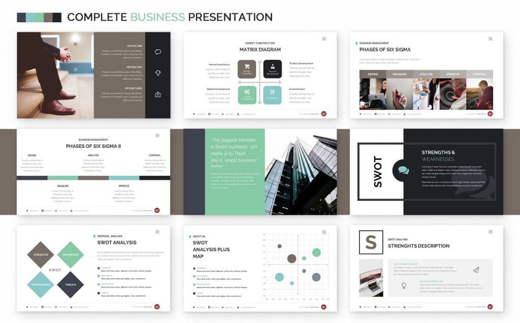 SWOT Analysis Slides Complete Business Powerpoint Template.