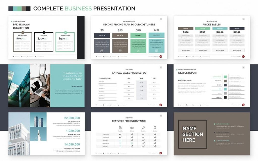 Price Slides Complete Business Powerpoint Template.