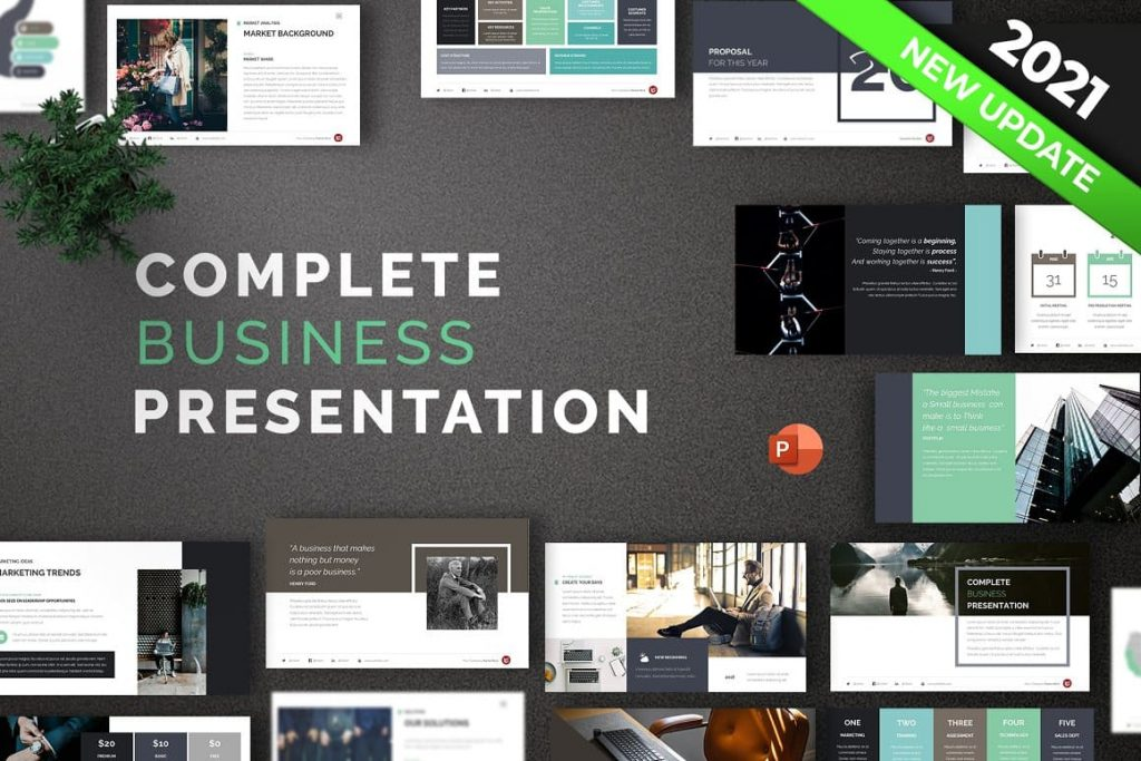 Complete Business Powerpoint Template Cover.