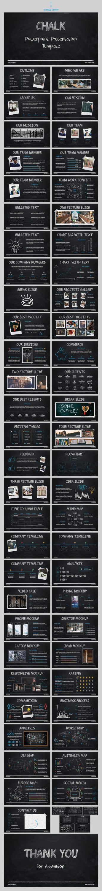 Slide Preview Chalk - Powerpoint Template.