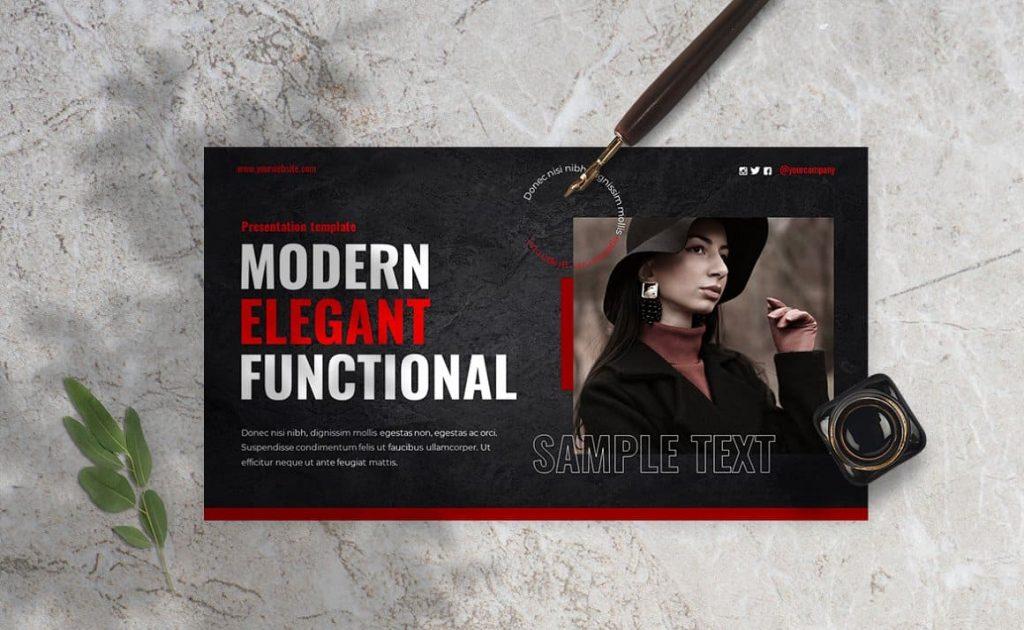 Modern Elegant Functional Alternative Powerpoint Presentation.