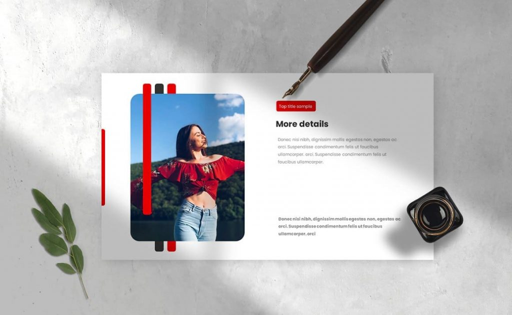Slide preview of Strips Class Powerpoint Presentation Template.