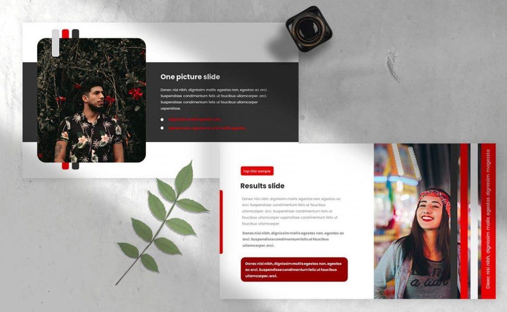 Slide Content Strips Class Powerpoint Presentation Template.