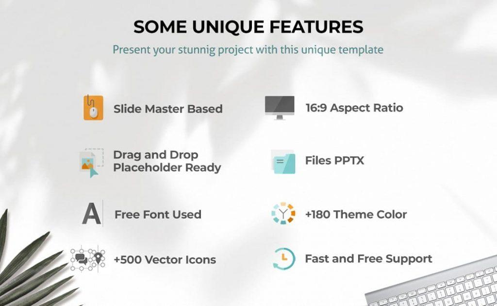 Features of Alternative Powerpoint Presentation.