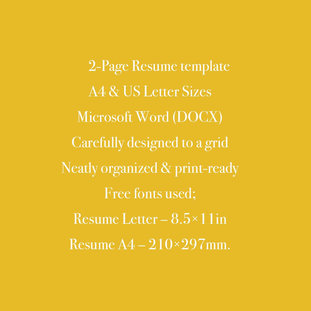 Financial Advisor CV Resume Template cover image.