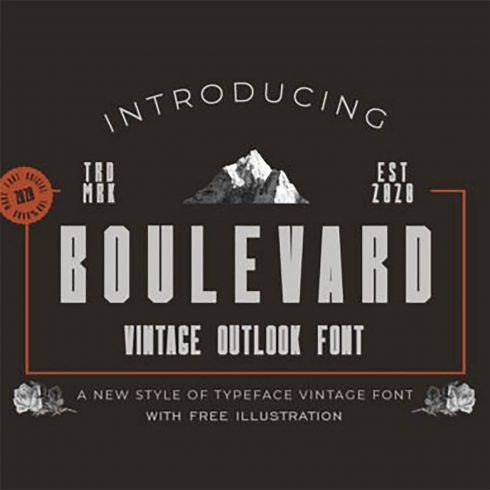 Boulevard Vintage Display Font preview image.