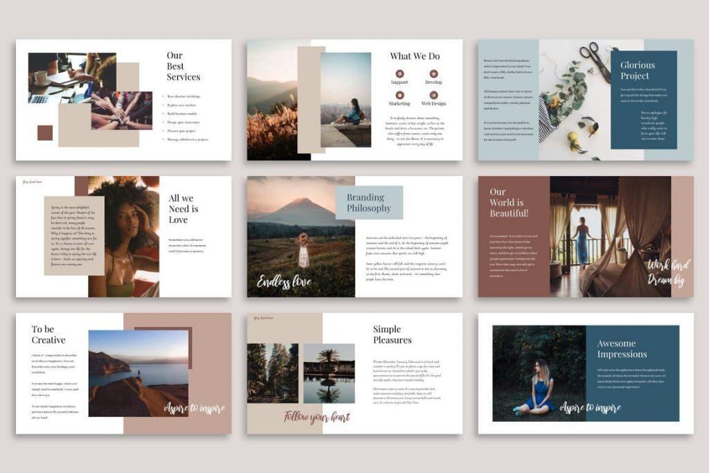Beautiful Design Glorious PowerPoint Template.