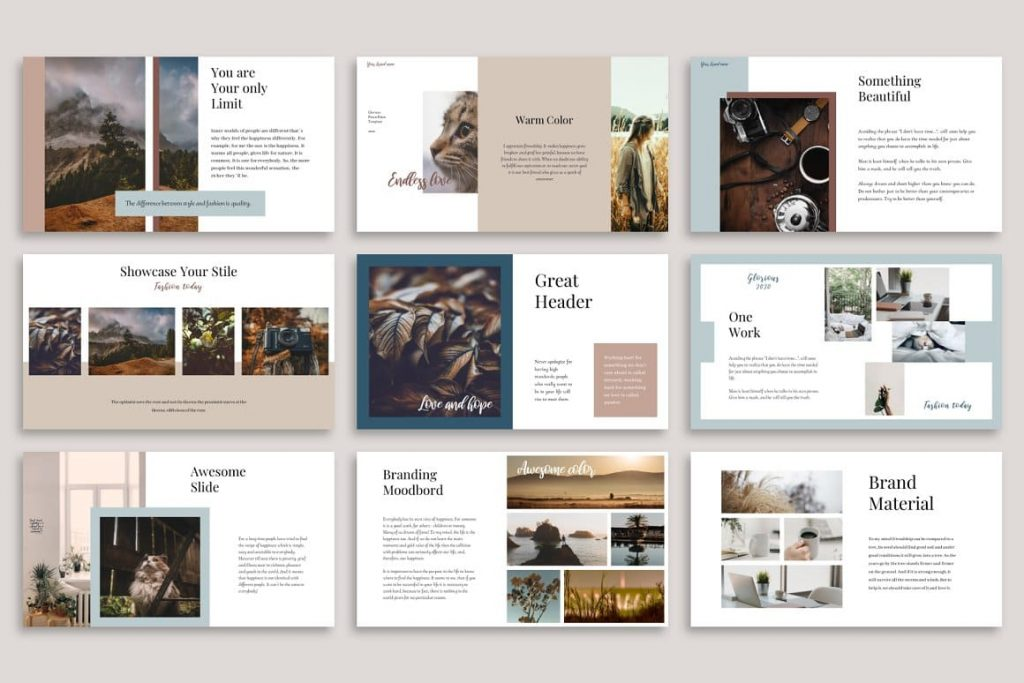 Glorious PowerPoint Template preview.