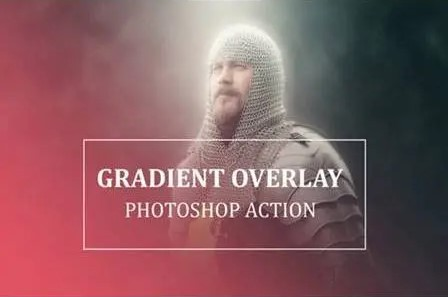 gradient overlay actions collection for photoshop.