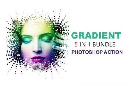gradient photoshop actions bundle.