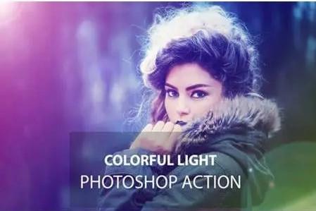 gradient photoshop action light purple.