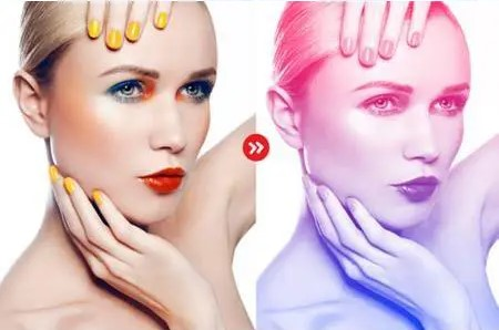 gradient photoshop actions blue pink only body.
