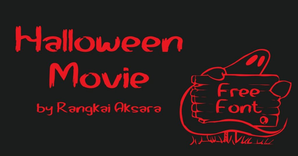 Facebook Collage Image for Halloween movie font free by MasterBundles.