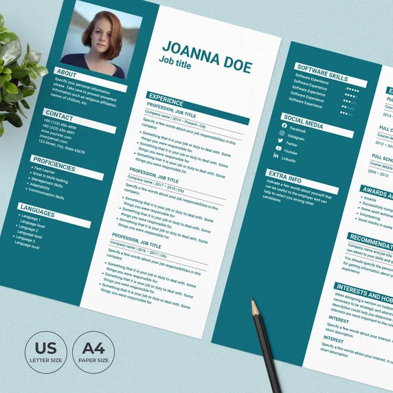 Hotel Resume Template CV preview image.