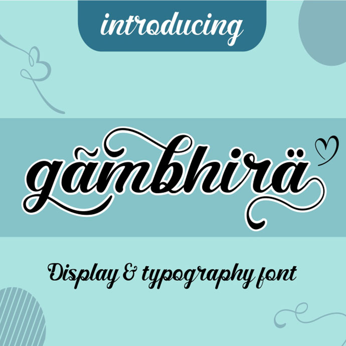 Gambhira Great Display & Typography Font previews image.