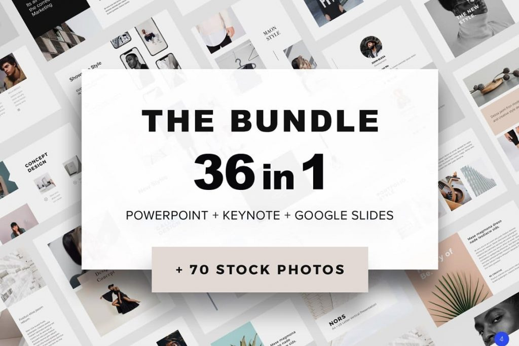 36 awesome presentation templates in 1 bundle.