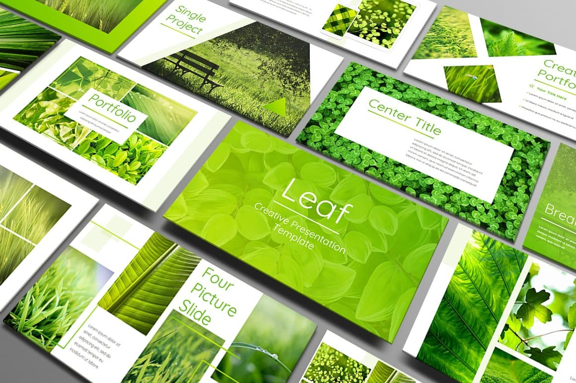 Leaf Cover - Powerpoint Template.