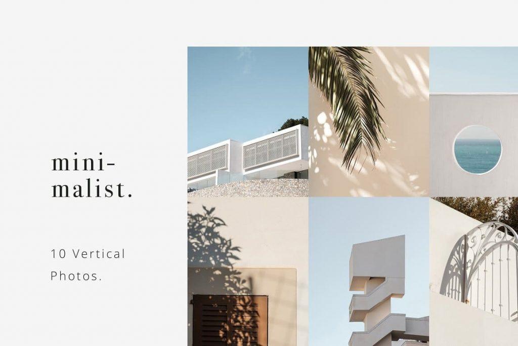 Bonus 10 Minimalistic Vertical Photos Pack Vol.1.