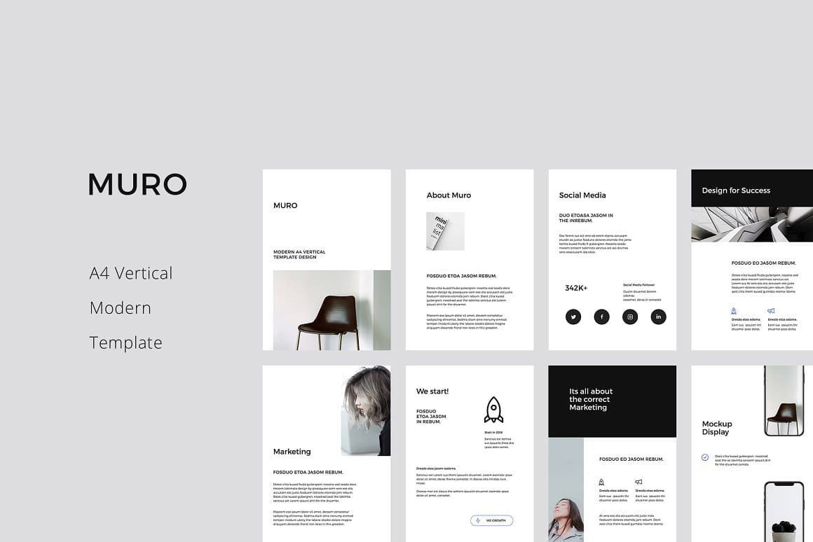 The stylish design of the template allows you to use it for the fashion industry.
