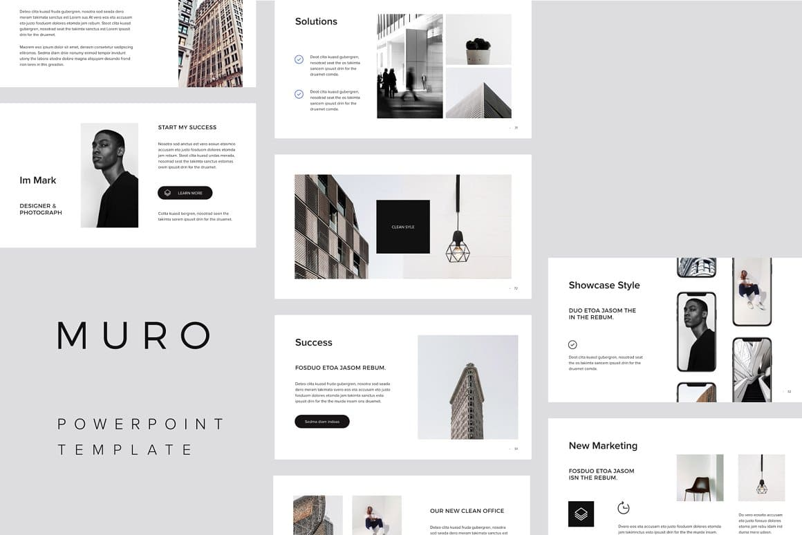 Each element of the template is aesthetically pleasing and attractive.
